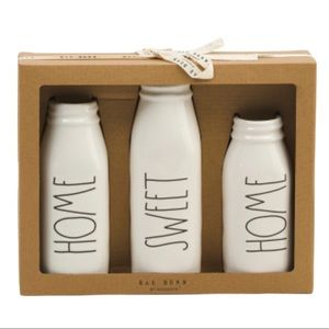Rae Dunn Home Sweet Home bud vase set of 3